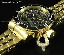 NEW Invicta Mens 18K Gold Plated Carbon Fiber Dial Day/Date Specialty Watch
