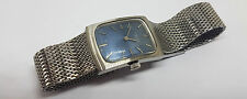 USED VINTAGE FAVRE-LEUBA DECO BLUE DIAL MANUAL WIND MAN'S WATCH MESH STRAP