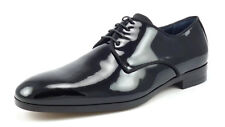 Salvatore Ferragamo New Mens Shoes Size 7 EEE US Patent Leather Oxfords Black