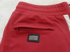AUTHENTIC DOLCE GABBANA RED STRIPED JOGGERS UNISEX