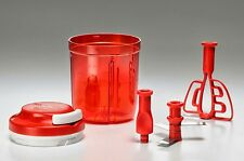 NEW TUPPERWARE SMOOTH CHOPPER (RED) 730 ML- PULL CORD MECHANISM