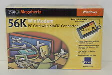 3COM 3CXM356 56K WINMODEM PC CARD WITH XJACK CONNECTOR NEW