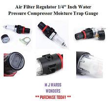 """Filtro de aire regulador 1/4"""" pulgadas BSPP Compresor trampa de humedad Medidor de Presión de Agua"""