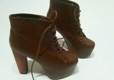 Jeffrey Campbell  wedge Platform Boots Heels UK 5   euro 38