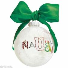 New! Lolita Ornament Glass Ball Naughty and Nice Rare Retired Holiday Moments