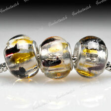 5pcs murano glass European beads charm fit bracelet necklace wholesale LB0055
