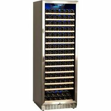 166 Bottle Commercial Wine Cooler, Built-In Stainless Steel Chiller Scratched*