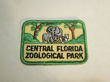 Vintage Central Florida Zoological Park Animals Illustration Iron On Patch