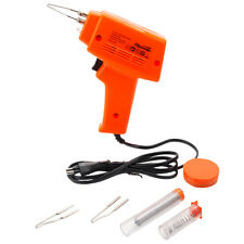 100W Welder Desolder Soldering Gun Kit Set with Solder Tips Paste Flux 220V-240V