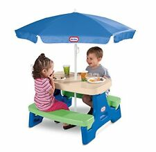 Little Tikes Picnic Table Umbrella Kids Toddler Outdoor Chair Folding Portable
