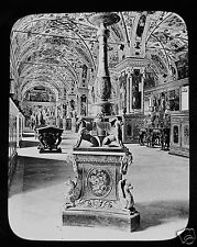 Glass Magic Lantern Slide THE VATICAN LIBRARY  C1900 ROMA  ITALY ROME