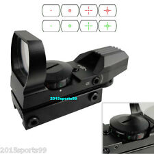 Holographic 4 Type Reticle Red Green Dot Scopes Sight w/Picatinny Weaver Rail