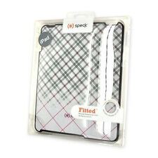 Speck Fitted Fabric Hard Shell Cover Case for iPad 1st Gen Gray/Pink/Black Plaid