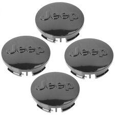 "(4x) Jeep 2.5"" Gloss Black Center Wheel Caps Fits: 17"" 18"" 20"" Wheels + SRT8"
