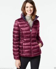 INC International Concepts Women's Packable Puffer Coat Peony / Marine Size XL