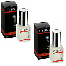 PHIERO PREMIUM Notte Pheromone Erotic Men Perfume Attract Women! 2 bottles