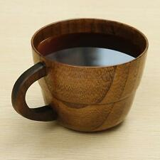 Primitive Wooden Cup Handmade Drink Coffee Tea Wine Camping Natural Wood Mug
