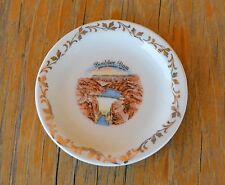 VTG Enco China Mini Plate Views of America Travel Souvenir BOULDER DAM 22K Gold