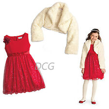 American Girl CL MY AG SET SPARKLE PARTY DRESS & FANCY SHRUG SIZE 8 for Girl NEW