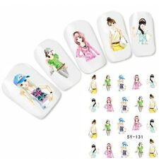 Tattoo Nail Art Glitzer Manga Anime Japan Aufkleber Nagel Sticker Neu!
