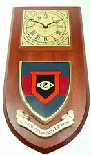 GUARDS ARMOURED DIVISION CLASSIC HAND MADE TO ORDER REGIMENTAL WALL CLOCK