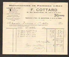 """NEVERS (58) USINE de FAIENCES / FAIENCERIE D'ART """"F. COTTARD"""" en 1917"""