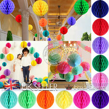 "12 Mixed Sizes (4"",6"",8"",10"") Honeycomb Balls Wedding Party Paper Decorations"