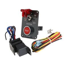 12V Racing Car Ignition Switch + Relays + Red LED Push Toggle Button Panel