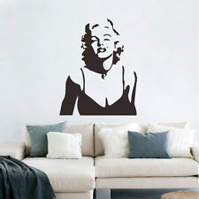 Marilyn Monroe Black Wall Decal Vinyl Stickers Decor Removable Home Mural  Art