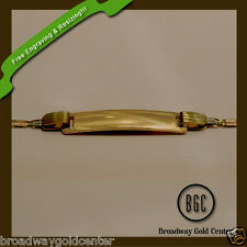 14k Solid Yellow Gold 3 Tone Baby Bracelet ON SALE! FREE ENGRAVING AND SIZING!!