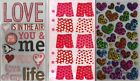 STICKO Assorted STICKERS Choice Scrapbooking LOVE - HEARTS & VALENTINE'S DAY