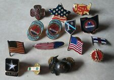 Lot of 15 Vintage USA Military Active Duty Army MinuteMen Infantry,WW2 Pins more