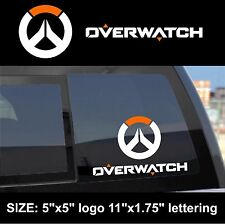 Overwatch logo symbol & lettering combo decal sticker