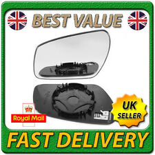 Left Passenger Near Side Heated Wing Door Mirror Glass for FORD FIESTA 2006-2008