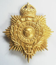 ROYAL MARINES KINGS CROWN BRASS HELMET PLATE