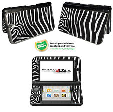 Zebra Fur Camouflage Style Vinyl Skin Sticker for Nintendo 3DS XL