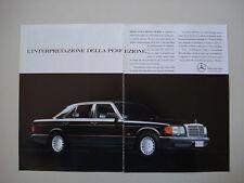 advertising Pubblicità 1990 MERCEDES BENZ SERIE S