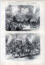 1876 American Independence Indian Carnival Philadelphia Torchlight Procession