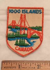 Vintage 1000 Islands Bridge Canada Canadian Souvenir Patch Badge