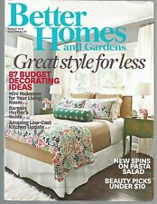 Better Homes and Gardens August 2013 Pasta Salads/Great Style for Less/BLTs
