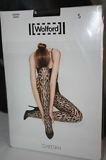 Wolford ~ CHEETAH ~ tights BNWT Small UK 10/12  black & black