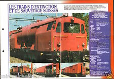 Fire engine CCF Train d'Extinction de Sauvetage Suisse FICHE Pompier FIREFIGHTER