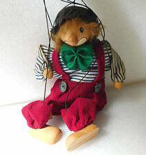 String puppet Clown wooden marionette Traditional toy or decorative ornament