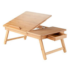 Portable Lap Desk Tray Table Stand Wood Adjustable Foldable Bed Laptop Notebook