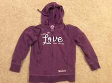 Women's Sm Life Is Good Do What You Love Love What You Do Purple Hoodie Sweater