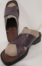 NAOT Brown Croc Patent Leather Slip Sandals Womens EU 41 US 9 Comfort Shoes