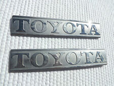 1978-1979 Toyota Truck left & right front fender emblems chrome original pair