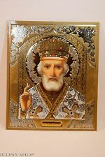 ST NICHOLAS  Николай RUSSIAN ORTHODOX CHURCH ICON  10x12cm