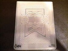 Sizzix Large Embossing Folder BANNER FRAME fits Cuttlebug & Wizard