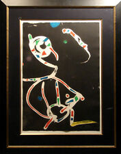 "Joan Miro""La Traca"" Color etching and Aquatint with beautiful frame Hand Signed"